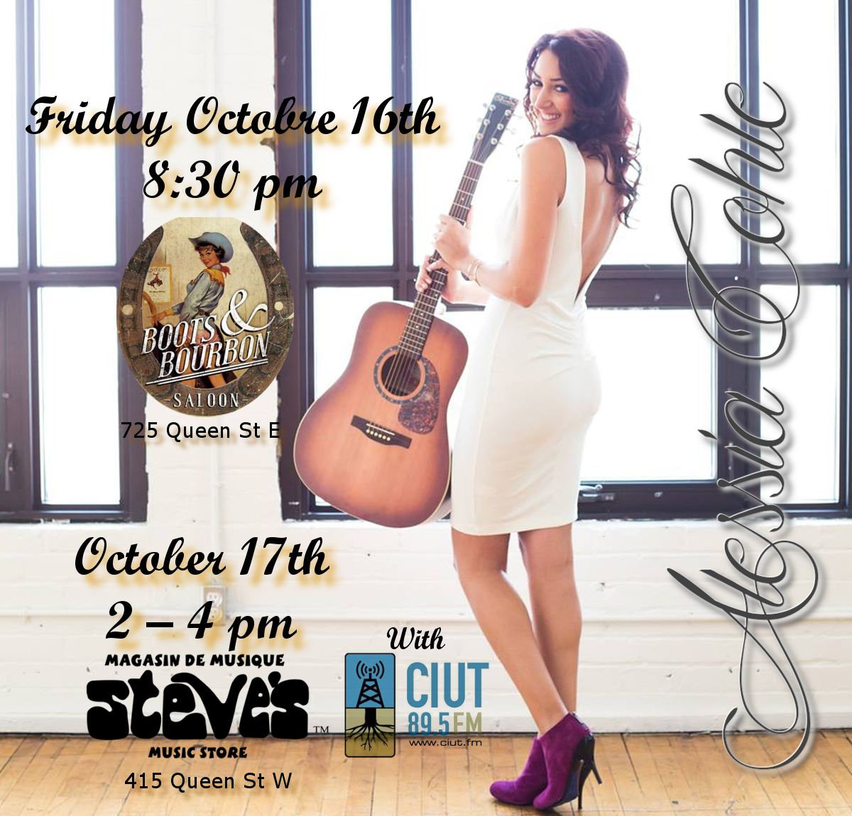 Alessia Cohle - October concerts in Toronto