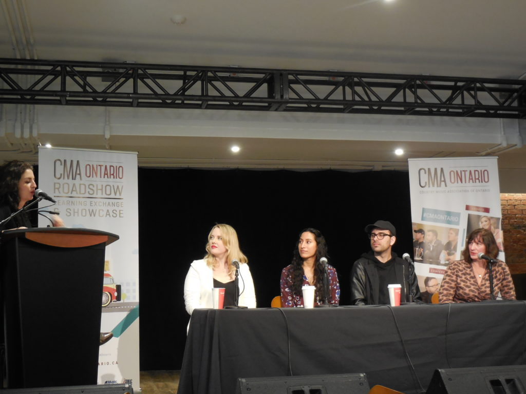 AM to FM Promotions, Andrea Morris speaks with the CMAO Panel at the 2017 Roadshow