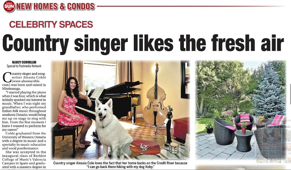 Toronto Sun-Alessia Cohle (an artist AMtoFM Promotions)