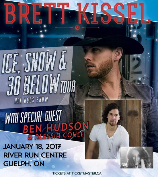 Alessia Cohle opens for Brett Kissel Jan 18th 2017